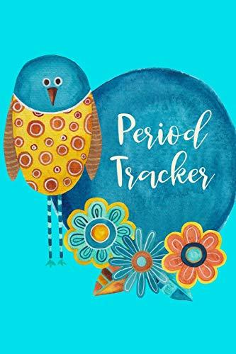 Period Tracker: Menstruation Journal - 4 Year Monthly Calendar - Monitor PMS Log Book - Menstrual Cycle Tracker For Girls & Women - Bird Cover
