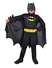 Ciao-Batman Dark Knight Costume Bambino Originale DC Comics (Taglia 5-7 Anni) Con muscoli pettorali imbottiti, Uomo, 11671.5-7