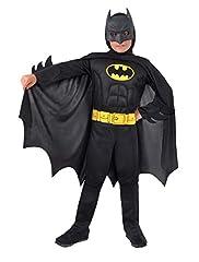 Idea Regalo - Ciao- Batman Dark Knight Costume Bambino Originale DC Comics (Taglia 5-7 Anni) con Muscoli pettorali Imbottiti, Colore, 11671.5-7