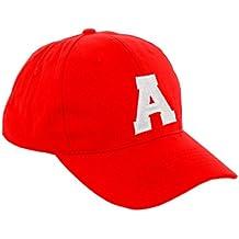 Morefaz - Gorra de béisbol roja infantil unisex f5d3420b689