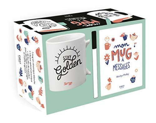 Coffret Mon mug à messages : un mug + un feutre spécial céramique + 10 feuilles de messages et motifs originaux à transférer par COLLECTIF