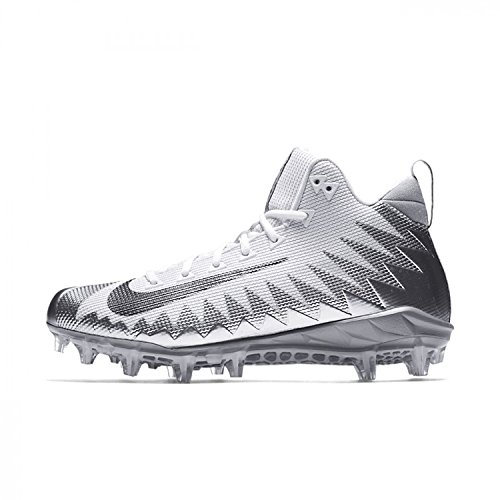 Nike Alpha Menace Pro Mid pour Homme Football Crampons, Argent (Metallic Silver/Metallic Dark Grey), 45 EU
