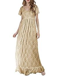 Yacun La Femme Est Enceinte De Dentelles Longue Robe Élégante XXXL 88fc1546816