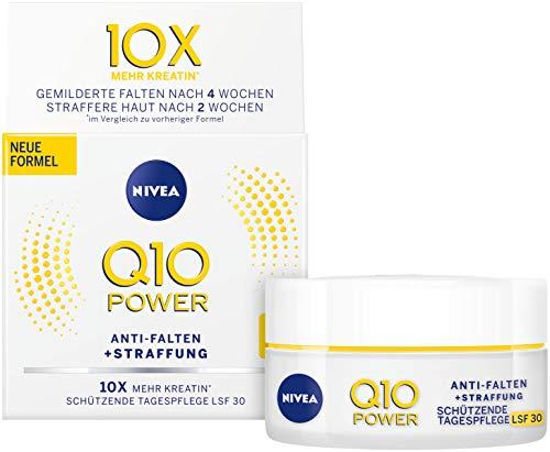 NIVEA Q10 Power Anti-Falten plus Straffung Schützende Tagespflege im 1er Pack (1 x 50ml), Gesichtscreme mit LSF 30, Tagescreme für glattere & jünger aussehende Haut -