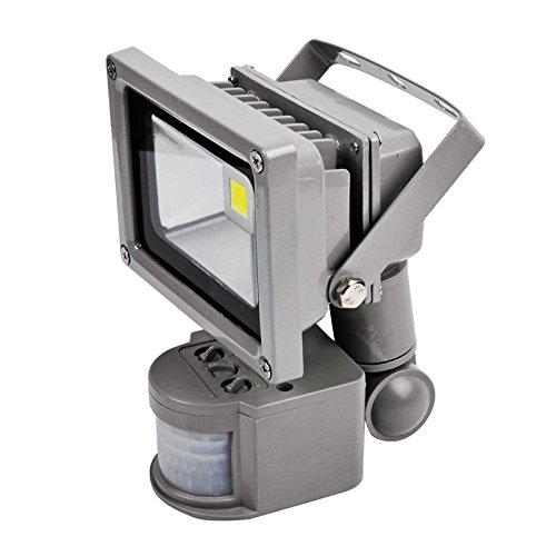 GWS-Classic-Silver-Grey-Casing-Outdoor-IP65-Waterproof-SMD-Chip-LED-Floodlight-with-PIR-Motion-Sensor-Energy-Saving-Security-Light