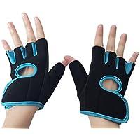 Hombre y para mujer deporte al aire libre del desgaste de la aptitud Media - guantes del dedo