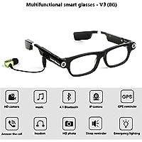 RENYAYA Gafas Inteligentes cámara de vídeo Bluetooth Auricular 4,1 Manos Libres teléfono de Llamada