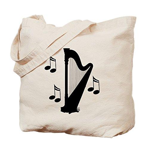 CafePress Tragetasche mit Musik-Harfe, canvas, khaki, S