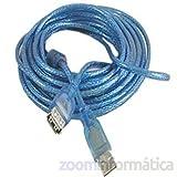 CABLE PROLONGADOR ALARGADOR USB 5m 5METROS EXTENSOR funciona con AWUS036H, alfa, wifisky,... 5 METROS