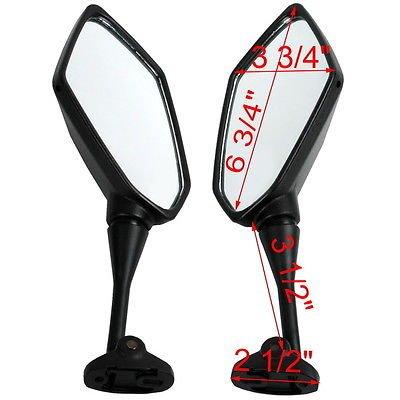 tengchang Motorcycle A Set Rear View Mirrors For Honda CBR900CBR919CBR929CBR954CBR600°F4F4I
