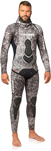 Cressi Homme Apnea Complete 7 mm Freediving/Spearfishing Wetsuits Premium Soft Neoprene, Camouflage, L/4