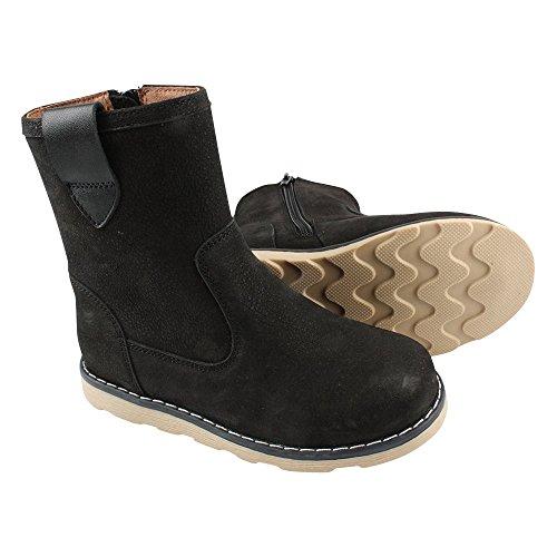 EN FANT Boots Elastic, Bottes mi-hauteur non doublées garçon Noir - Schwarz (Black 00)