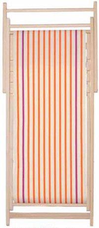 Chaise longue transat chilienne Ecru Orange - Toiles du Soleil