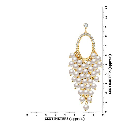 Jewels Galaxy Limited Edition Exclusive Luxuria Flawless Pearl Studded Magnificent Gold Plated Danglers For Women/Girls
