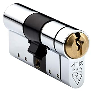 Avocet ATK High Security Euro Cylinder - Anti Snap Lock - TS007 3 Star (INT 50mm / EXT 40mm, Chrome)