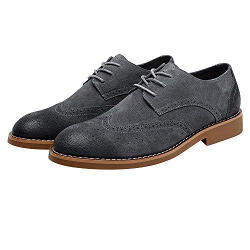 XIANGBAO-Persönlichkeitsfall Mode Für Männer Klassische Business Schuhe Matte Atmungsaktiv Hohl Schnitzen Echtes Leder Lace Up Gefüttert Oxfords (Wildleder Optional) -