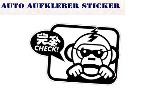 Check Monkey Bunte Auspuff Sticker OEM Fun Aufkleber Hater Domo Bitch Race Power Honda PS JDM