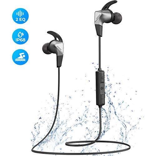 Mpow Fly Bluetooth Kopfhörer In Ear, Sport Kopfhörer mit IPX7 Wasserdicht, 12 Stunden Spielzeit/Dual EQ, Sportkopfhörer Joggen/Laufen Bluetooth 5.0 mit HD-Mikrofon für iPhone Android