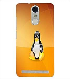 PrintDhaba Cute Penguin D-1059 Back Case Cover for LENOVO K5 NOTE (Multi-Coloured)