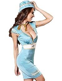 Rollenspiel Service Airline Stewardess Seemann Anzug Hüfte Jumpsuit Rock Anzug Sexy Unterwäsche