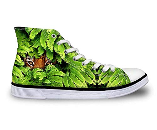 Animals Tiger Womens Girls Comfort High Top Sneakers Hiking Walking Canvas Shoes Tiger 10 5 Zoll Spike Heel