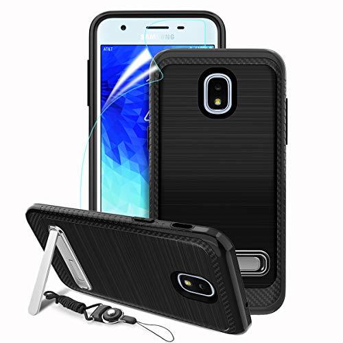Galaxy J3 2018 Case,Galaxy J3 Achieve,Galaxy J3 Star,Galaxy Express/Amp  Prime 3,Galaxy J3 V 3rd Gen,J3 Orbit/Top,Dual Layer Full Body Kickstand  Cover