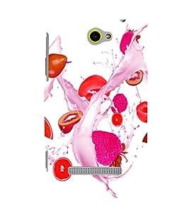 printtech Fruits Splash Back Case Cover for HTC Windows Phone 8S