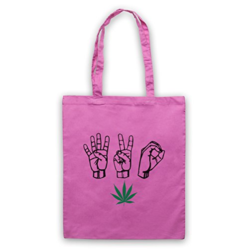 420 Cannabis Leaf Weed Pot Culture Fingers Umhangetaschen Rosa