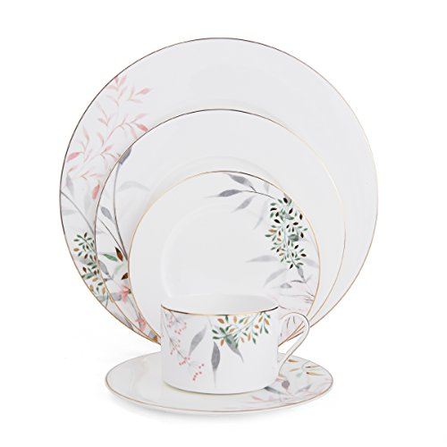 Mikasa 5200076 Alaya Bone China 5-Piece Place Setting, Service for 1, White/Assorted Mikasa Antique White China