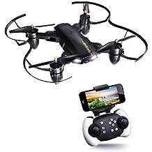 JOYGEEK Drone Plegable, Drone con Cámara HD, Giroscopio de 6 Ejes, 4 Hélices, Mantenimiento de La Altitud, FILP 3D, One Key Return, Fácil de Manejar para Principiantes y Niños(2 Baterías)