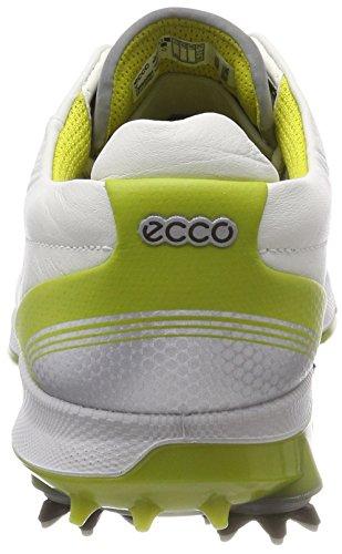 ECCO Mens Biom G 2 Free GTX, Scarpe da Golf Uomo Bianco (White/kiwi 50864)