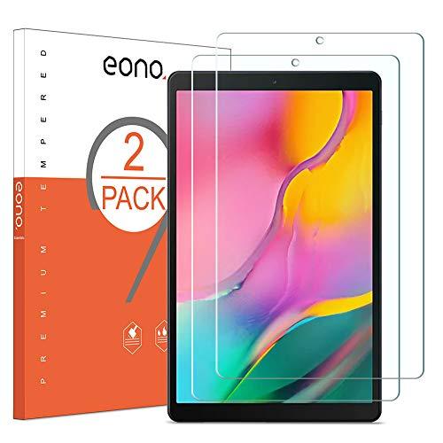 vetro tablet EONO Essentials Pellicola Protettiva Compatibile con Samsung Tab A T515/T510 (10.1 Pollici 2019) in Vetro Temperato Anti-Graffi Anti-Impronte Durezza 9H Trasparenza 99