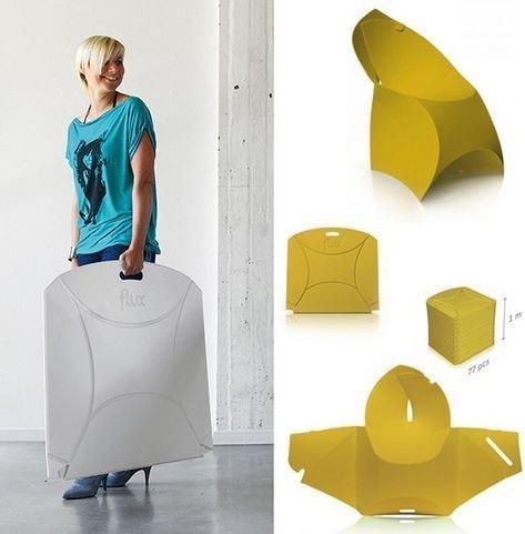 Ideapiu 4Stühle Flux, Klappstuhl, Klappstühle wirtschaftlichen, Stühle Design -
