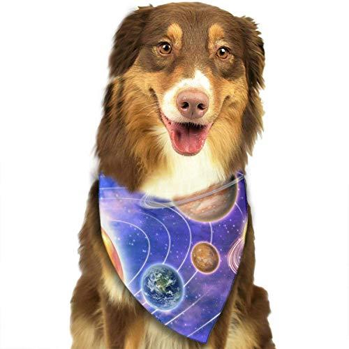 Planets Solar System Pet Dog Cat Bandanas Triangle Bibs Pet Scarf Dog Neckerchief Headkerchief Pet Accessories
