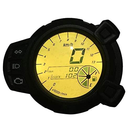 Motocicleta LCD Digital Colorido Tacómetro LED LCD Velocímetro para BWS Parquímetro Cronómetro...
