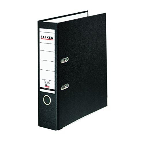 Falken PP-Color Kunststoff-Ordner 8 cm breit DIN A4 schwarz Ringordner Aktenordner Briefordner Büroordner Plastikordner Schlitzordner