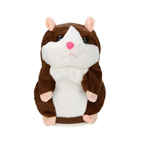 jouets pour enfants, SHOBDW Adorable Interessant Speak Talking Record Hamster Mouse Plush Jouets pour enfants (café)