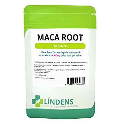 Maca 500mg /100 Tablets by Lindens