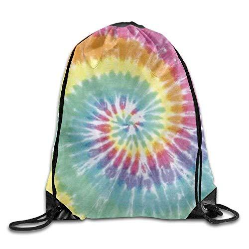 Frauen Tye Dye (HOJJP Schultasche Unique Tye Dye Art Drawstring Backpack Bag Shoulder Bags Gym Bag for Adult)