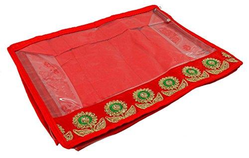 Kunststoff Saree Lagerung Zip Kunststoff Organizer Startseite Dienstprogramm Fall Saree Bekleidungstasche 17