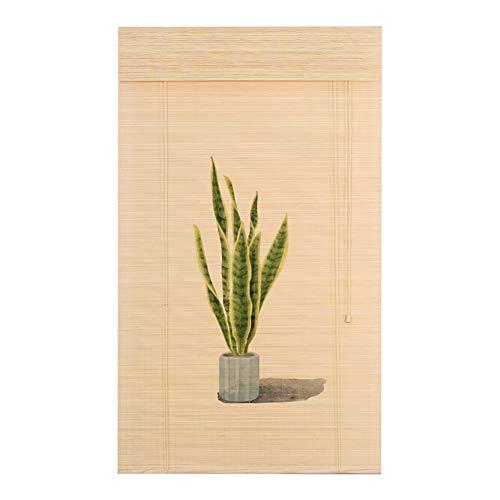 Seitenzug Springrollos Indoor-Bedruckte Bambus-Lichtfilterung Roll-Up-Jalousien, Rollläden für Terrasse, Rasen & Garten, Größe Anpassbar (größe : 120X180cm)