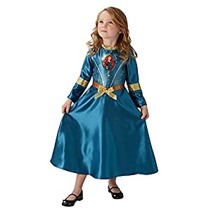 Rubies - Disfraz Oficial de Mérida para niñas de Disney, Princesa Valiente, Libro de Cuentos de Hadas, Disfraz para niños