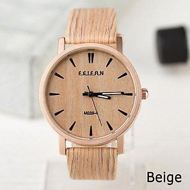Orologi unisex stile europeo vintage-legno-orologio alloggiamento impermeabile degli uomini e donne da vedere