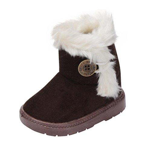 Baby Schuhe Sonnena Winter Baby Mädchen Kind Snow Stiefel warm Schuhe, 12–36Monate (12-18M) UK coffee (Kleinkind-brown-leder-schuhe 1)
