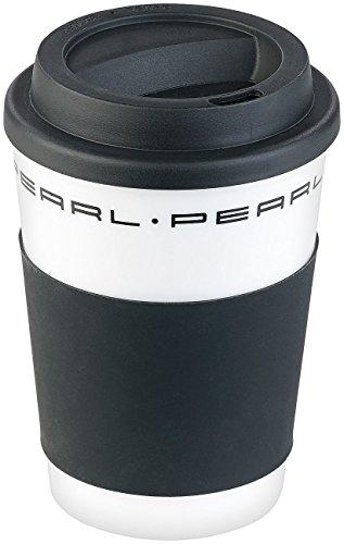 PEARL Kaffeebecher mit Deckel: Coffee-to-go-Becher mit Deckel, 350 ml, doppelwandig, BPA-frei (Isobecher)