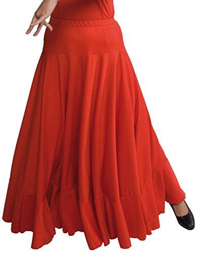 Happy Dance 147 - Falda de Flamenco para Mujer, Color Rojo, Talla 46