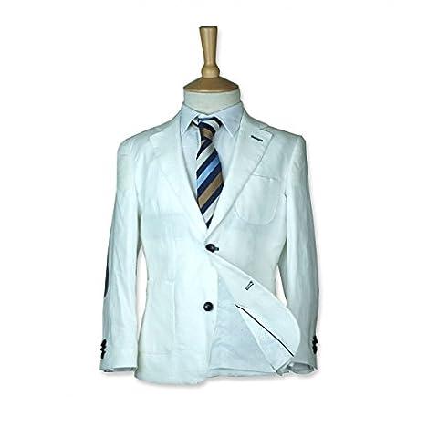 Boys Designer 2 PC Italian White Linen Suit, Pageboy, Wedding,