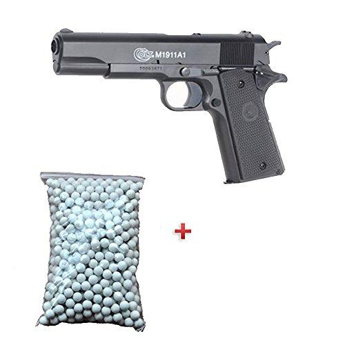 NFL Pack Cadeau Cybergun Airsoft Pistolet M1911 Anniversary Bax Métal OD 6mm 0.5 Joule à Ressort 600 billes offert ! -