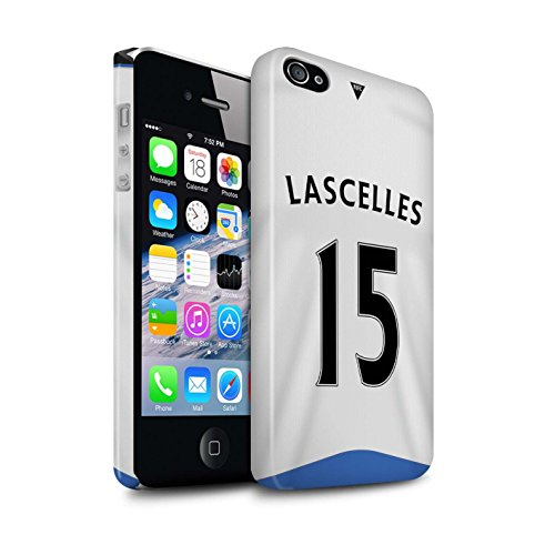 Offiziell Newcastle United FC Hülle / Glanz Snap-On Case für Apple iPhone 4/4S / Pack 29pcs Muster / NUFC Trikot Home 15/16 Kollektion Lascelles