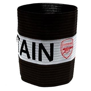 Fußball Kapitän-Armbinde, Motiv Arsenal FC (Einheitsgröße) (Schwarz)